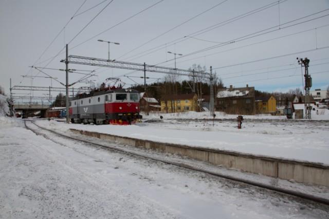 NRK har fulgt Ofotbanen fra luften. Arkivfoto: Robin Lund, Ofotingen