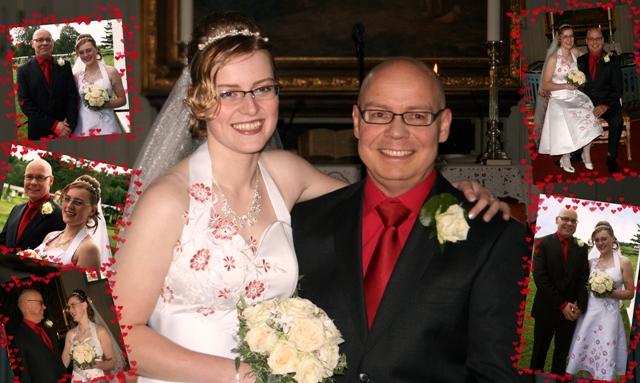 Elena Kirsanova og Steinar Solaas giftet seg i Evenes kirke 23. juli 2010. Foto: Silje Helen Solaas