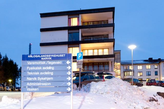 Narvik sykehus må vente på å bli erstattet. Arkivfoto: Robin Lund