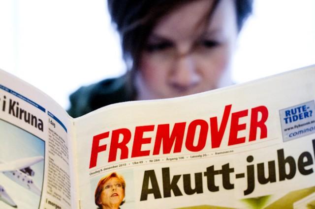 Det blir stadig færre Fremover-lesere. Foto: Robin Lund