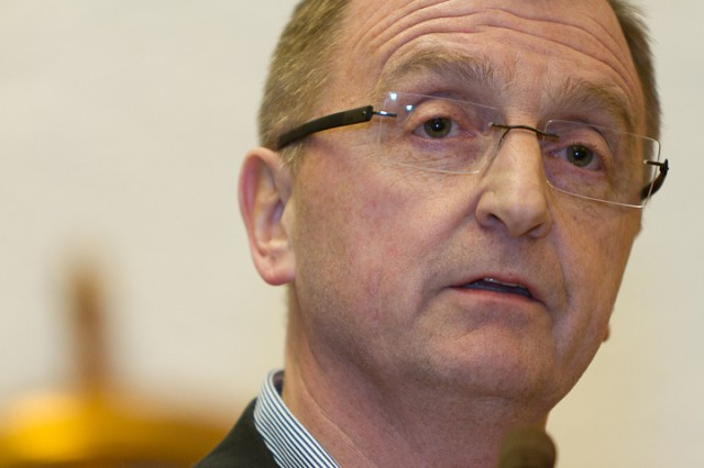 Tidligere Fremover-redaktør, Roger Bergersen, er Narvik Arbeiderpartis ordførerkandidat til kommune- og fylkestingsvalget 2011. Arkivfoto: Robin Lund, IMGS.no bildebyrå