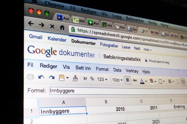 Narvik kommune satser på Google Apps som administrativ programvare. Foto: Robin Lund