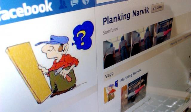«Planking» i Narvik. Foto: Skjermbilde-faksimile fra Facebook
