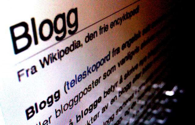 Blogger kan inneholde så mangt. Foto: Skjermbilde fra Wikipedia