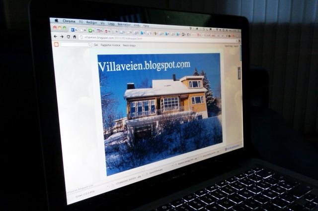 Carina Falchs «Villaveien«-blogg. Foto: Skjermbildeknips