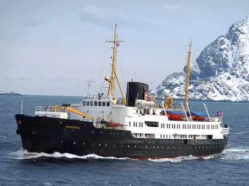MS «Nordstjernen» skal snart pensjoneres. Foto: Roland Rasmussen, Hurtigruten.