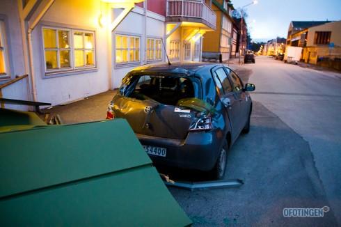 Veggplatene har gjort store ødeleggelser på sin ferd. Foto: Robin Lund
