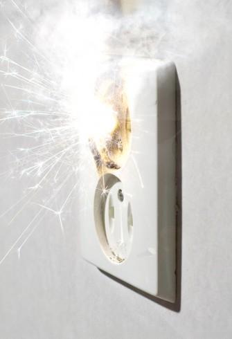 Elektrisk brann. Illustrasjonsfoto: Thomas Skjæveland