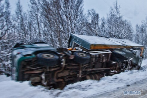 Vogntog i grøfta. Foto: Robin Lund