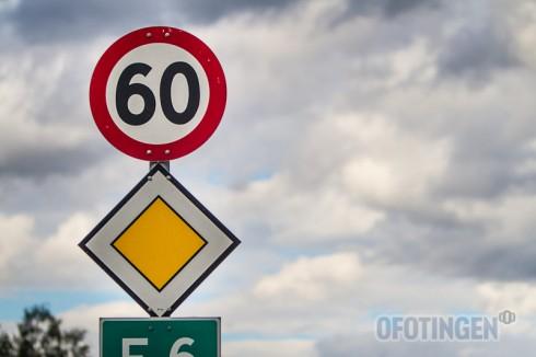 Fartsovertredelse i 60-sone. Illustrasjonsfoto: Robin Lund .no