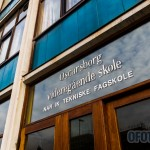 Skilting ved Oscarsborg videregående skole, Narvik tekniske fagskole. Arkivfoto: Robin Lund .no