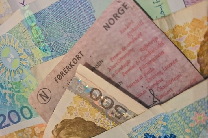 Førerkort og sedler