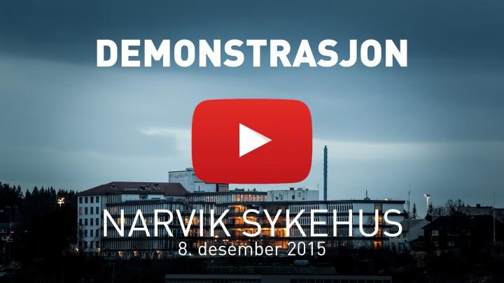 Ofoting.tv: Narvik sykehus demonstrasjon