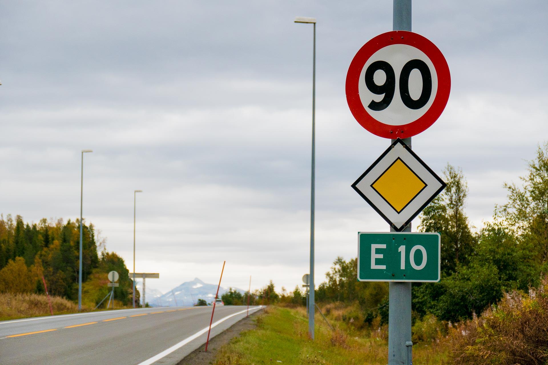 90-sone på europavei 10.