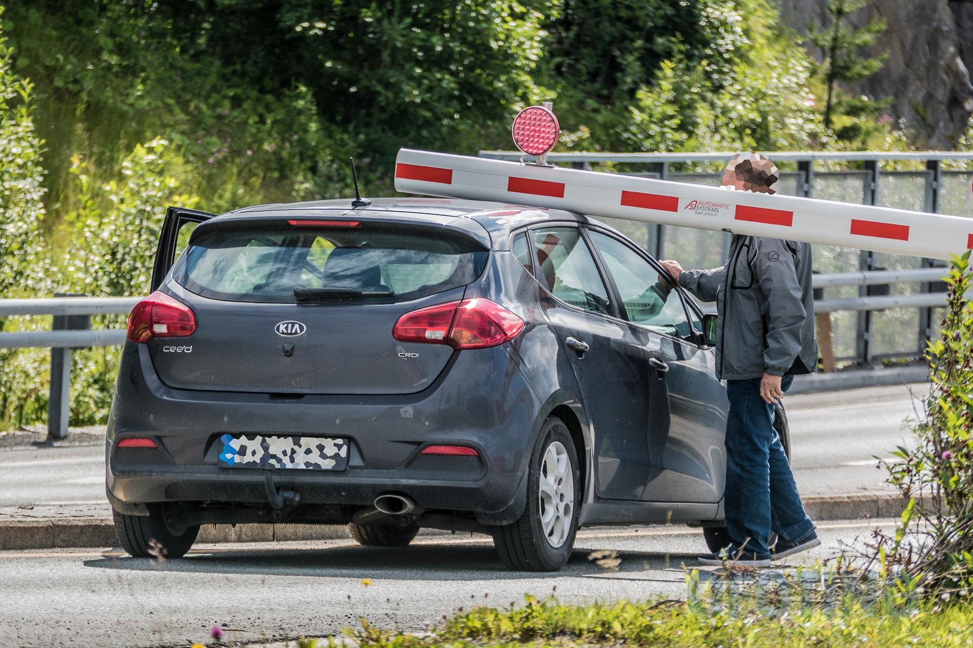 Bom stopp på vei inn i Fagernestunellen. (Foto: Robin Lund)